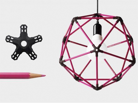 3D Printed Decor Pencil Icosahedron