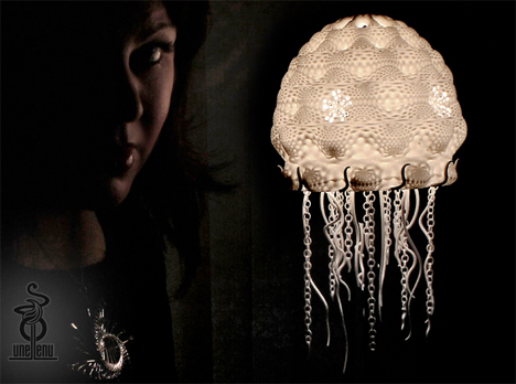 3D Printed Home Decor Jellyfish Lamp