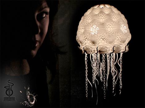 3D Printed Home Decor Jellyfish Lamp