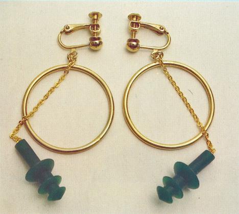 Chindogu Ear Plug Earrings