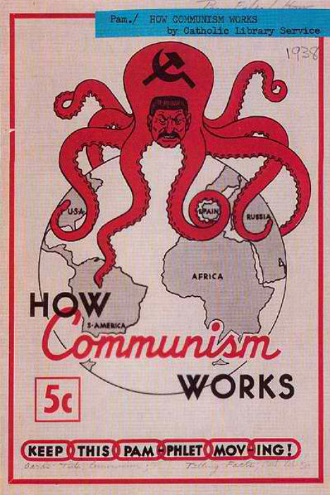 What were the cold war fears of the american people in the aftermath of the second world war?