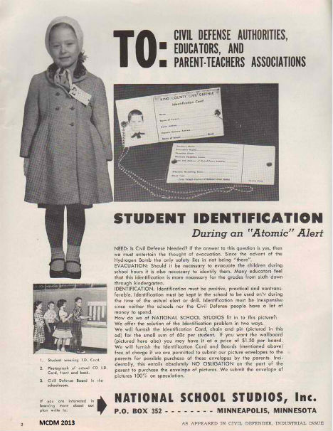 Cold War Ads Student ID Tags