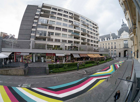 Geometric Street Painting France 6