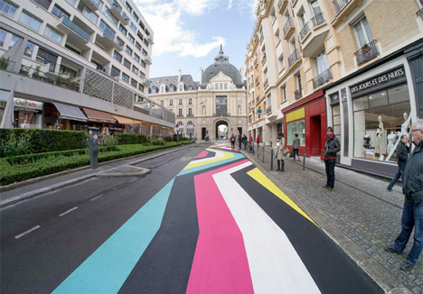 Geometric Street Paintings France 3