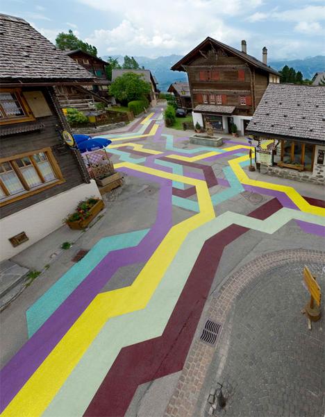 Geometric Street Paintings France 4