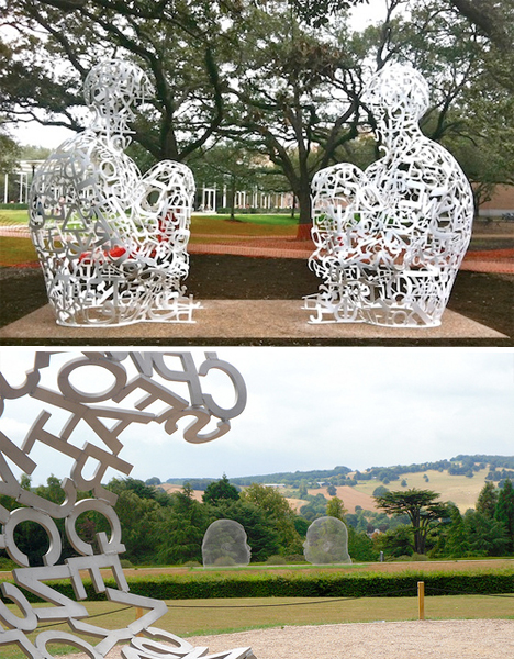 Jaume Plensa Typeface Sculptures 3