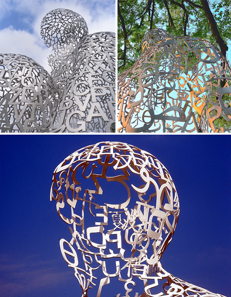 Jaume Plensa Typeface Sculptures 4
