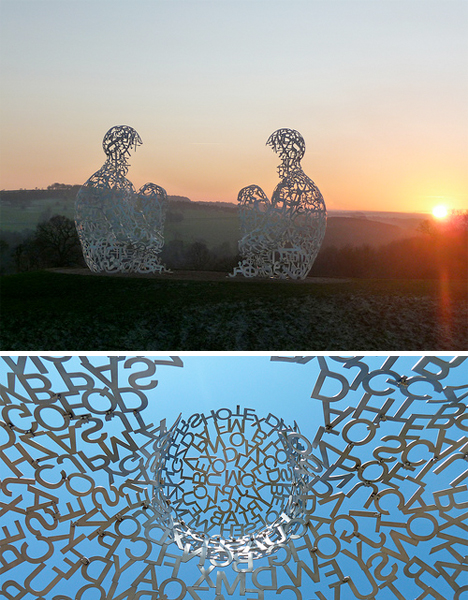 Jaume Plensa Typeface Sculptures 5