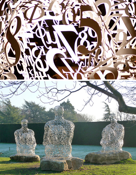 Jaume Plensa Typeface Sculptures 6