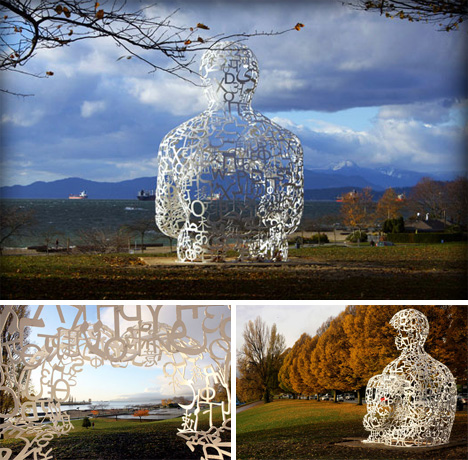 Jaume Plensa Typographic Sculpture 2