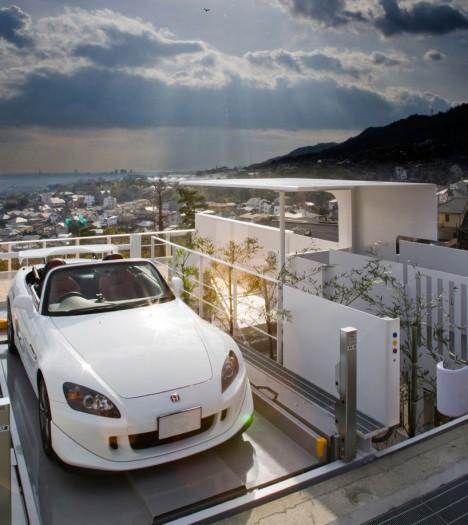 car lift japanese house