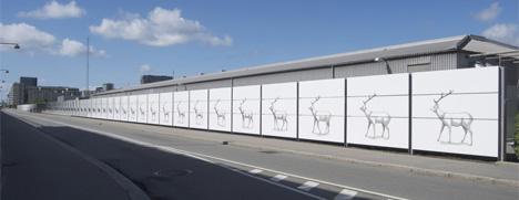 deer mural copenhagen