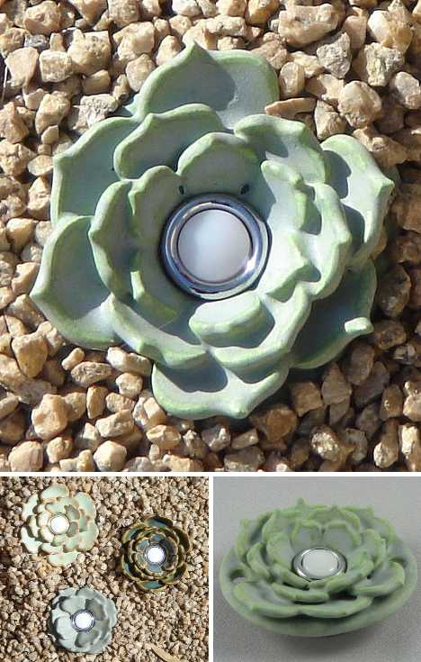 Hot House Pottery ceramic succulent doorbells