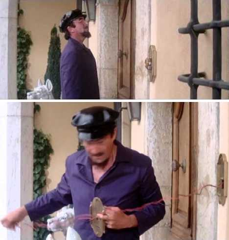 Clouseau Pink Panther doorbell scene