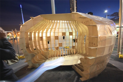 emergency shelters flatpack plywood