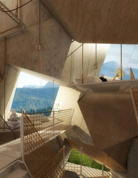 futuristic floors walls ceilings