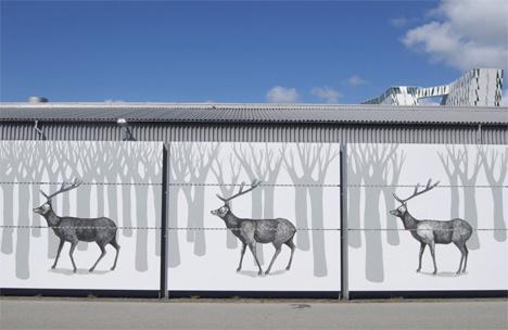 in between flipbook mural