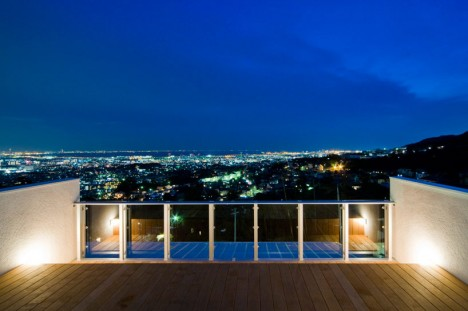 japanese wood minimalist view deck