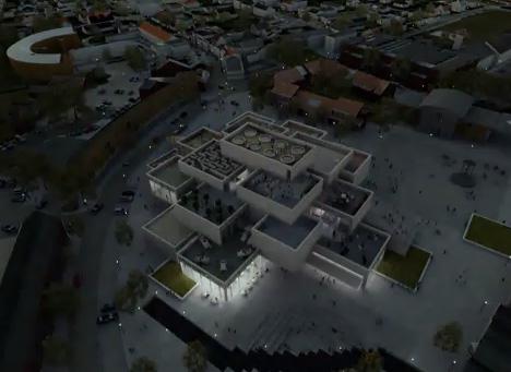 lego building at night