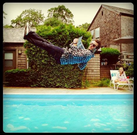 leisure dive newspaper jump