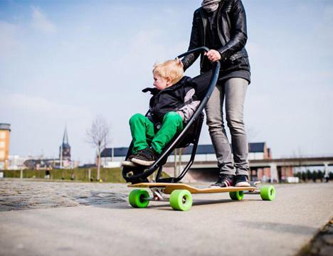 longboard stroller prototype