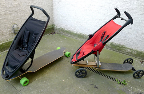longboard strollers urban travel