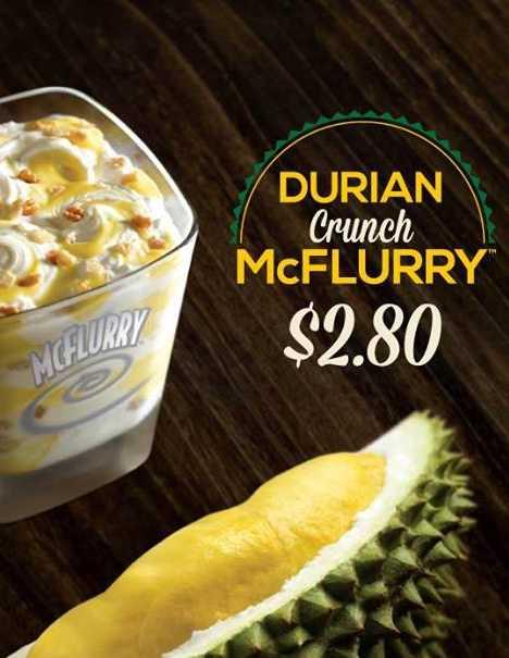 McDonald's Durian Crunch McFlurry Singapore