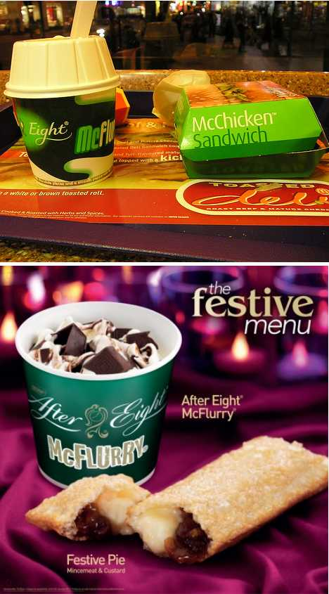 McDonald's Nestle After Eight McFlurry Festive