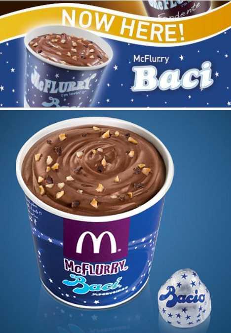 McDonald's Baci McFlurry Italy