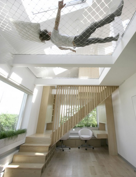 modular room upstairs hammock