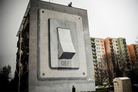 On Not Off Giant Light Switch Mural Is Brilliantly Literal Urbanist
