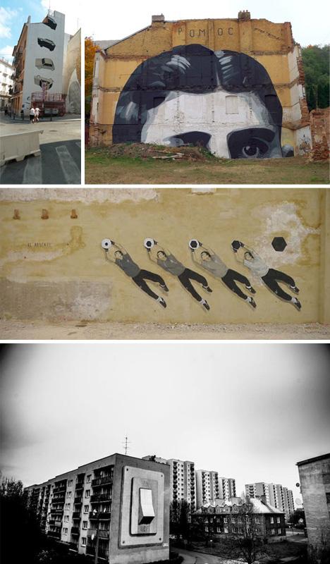murals escif animated graffiti