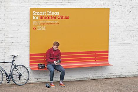 ogilvy france bench billboard