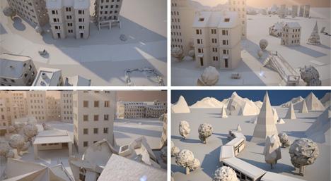 paper unfolding built environment