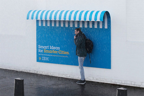 smart ideas for smarter cities awning billboard