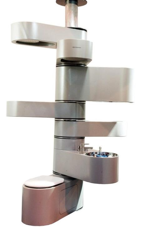 spiral unfolding bathroom design