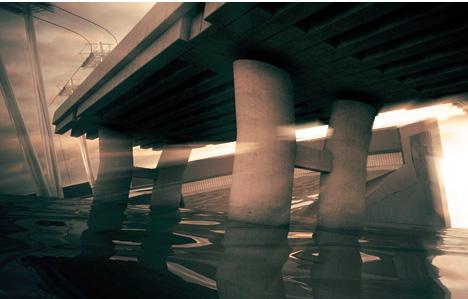 surreal cube water bridge