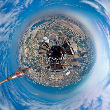 tallest building panoramic photograph