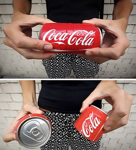 twist apart coca cola can