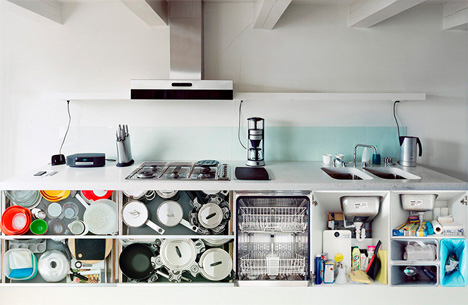 6 portraits of kitchen contents
