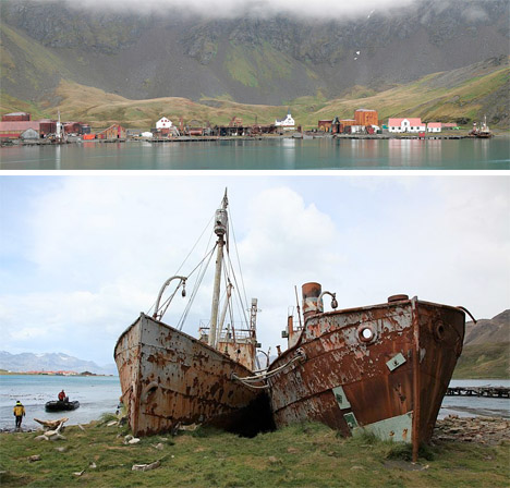 Abandoned Antarctica Grytviken Whaling Station