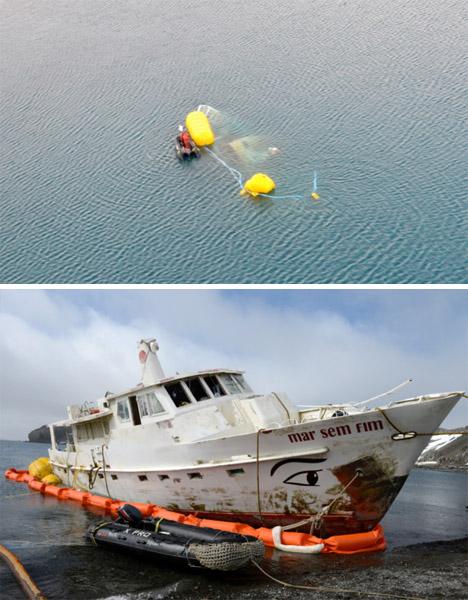 Abandoned Antarctica Sunken Ship 3