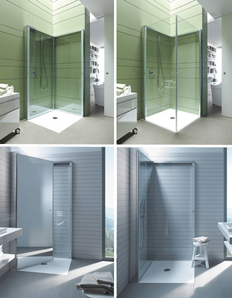 Nice Compact Bathrooms Flat Folding Shower