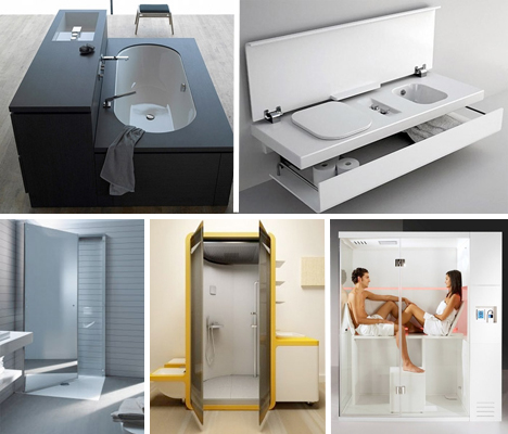 Small space design 15 fold up all in one bathrooms for Smart space solutions
