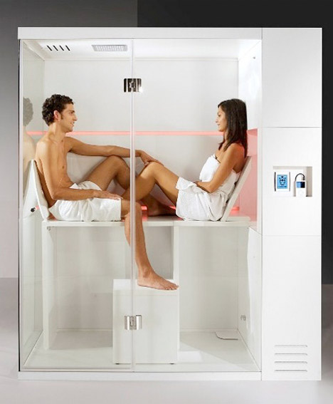 Small space design 15 fold up all in one bathrooms urbanist - Luxury shower cubicles ...
