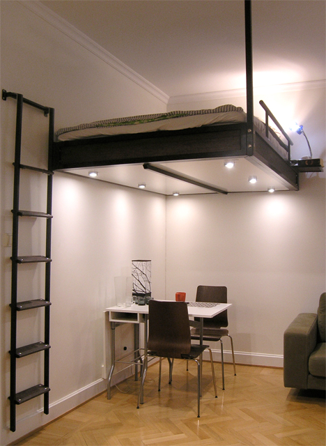 Compact Loft Stairs Bed Ladder Combo