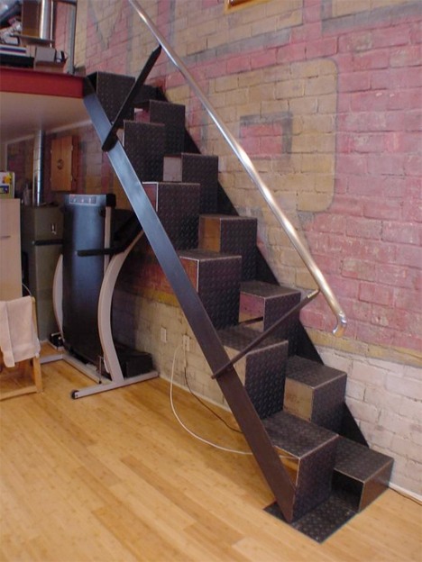 Steps to Saving Space 15 Compact Stair Designs for Lofts  : Compact Loft Stairs Brock from weburbanist.com size 468 x 624 jpeg 236kB