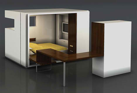 Fold Out Rooms Bedroom Oda 1