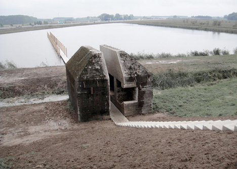 Repurposed Military Architecture Bunker Landmark