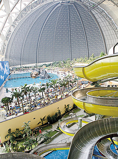 Repurposed Military Architecture Hangar Water Park 2